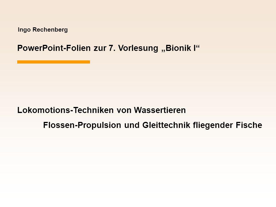 """PowerPoint-Folien zur 7. Vorlesung """"Bionik I"""