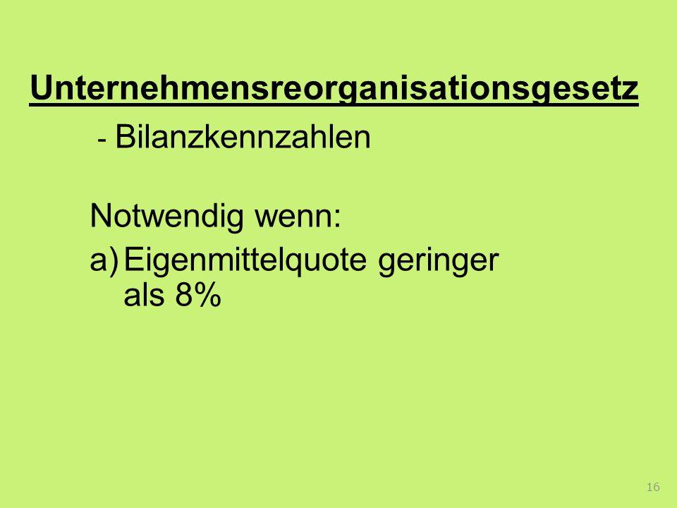Unternehmensreorganisationsgesetz