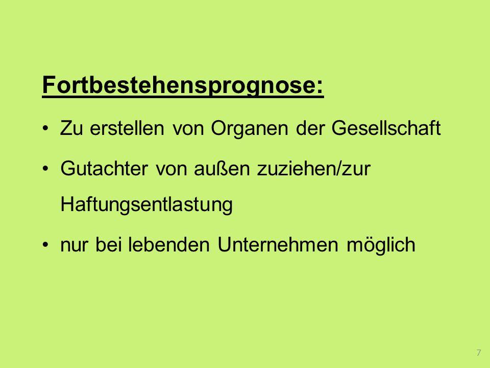 Fortbestehensprognose: