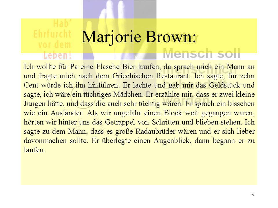 Marjorie Brown:
