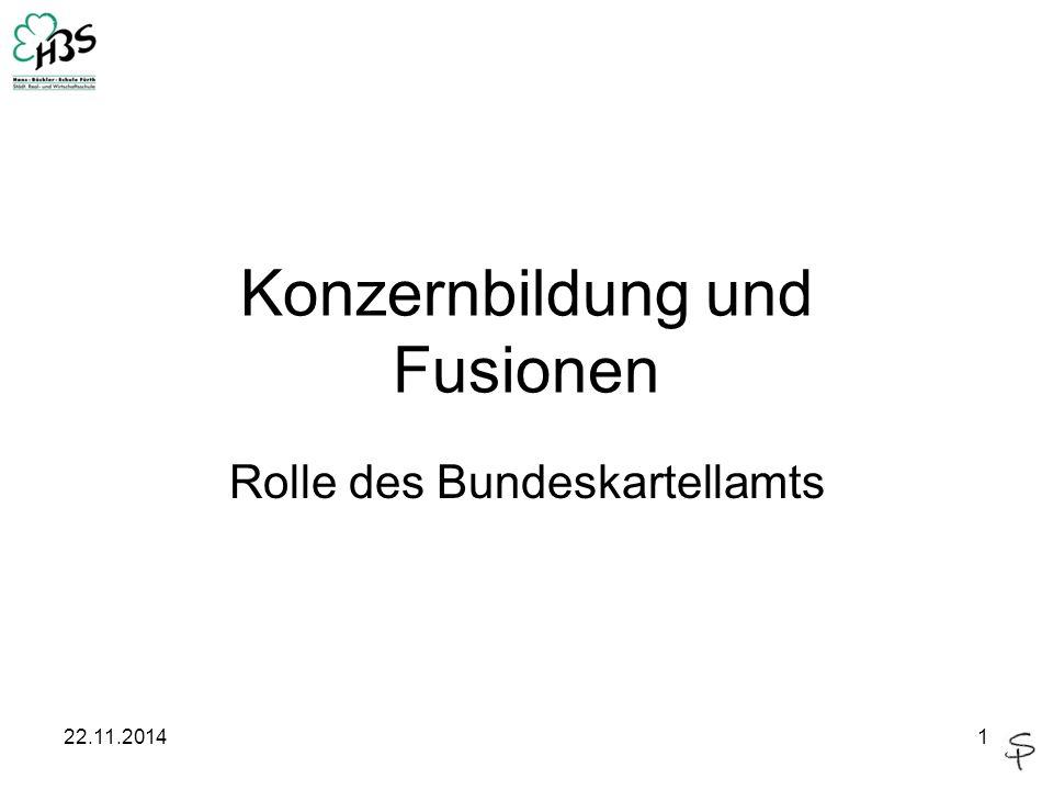 Konzernbildung und Fusionen