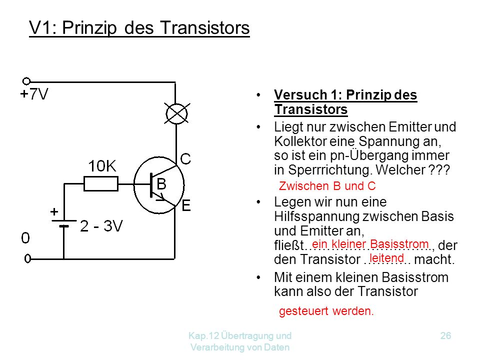 V1: Prinzip des Transistors