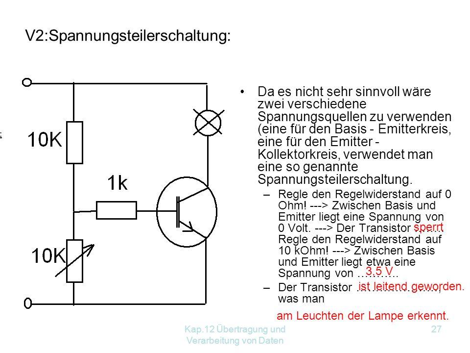 V2:Spannungsteilerschaltung: