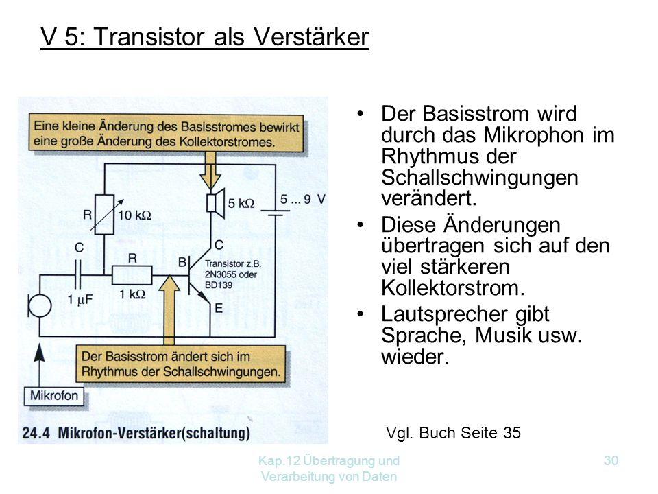 V 5: Transistor als Verstärker