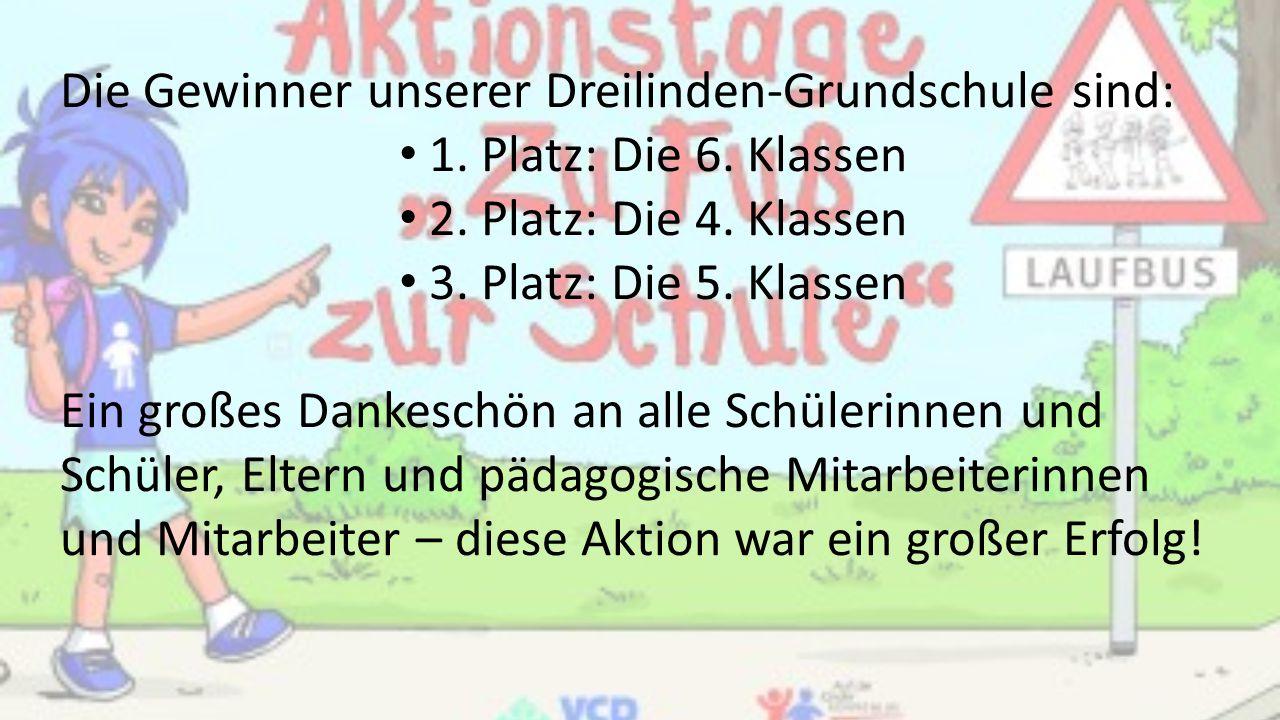 Die Gewinner unserer Dreilinden-Grundschule sind:
