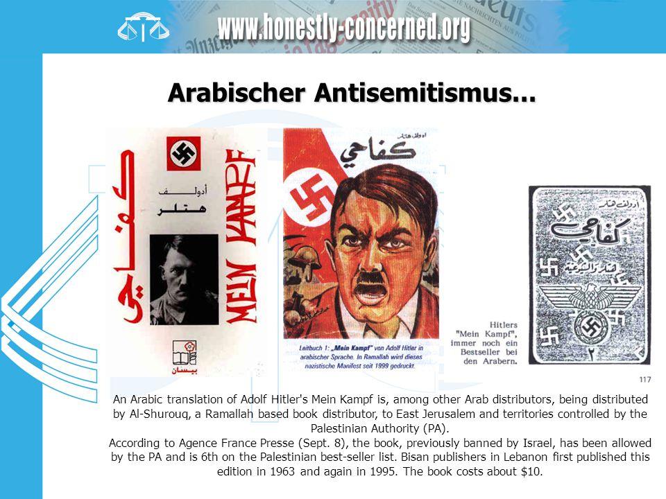 Arabischer Antisemitismus...
