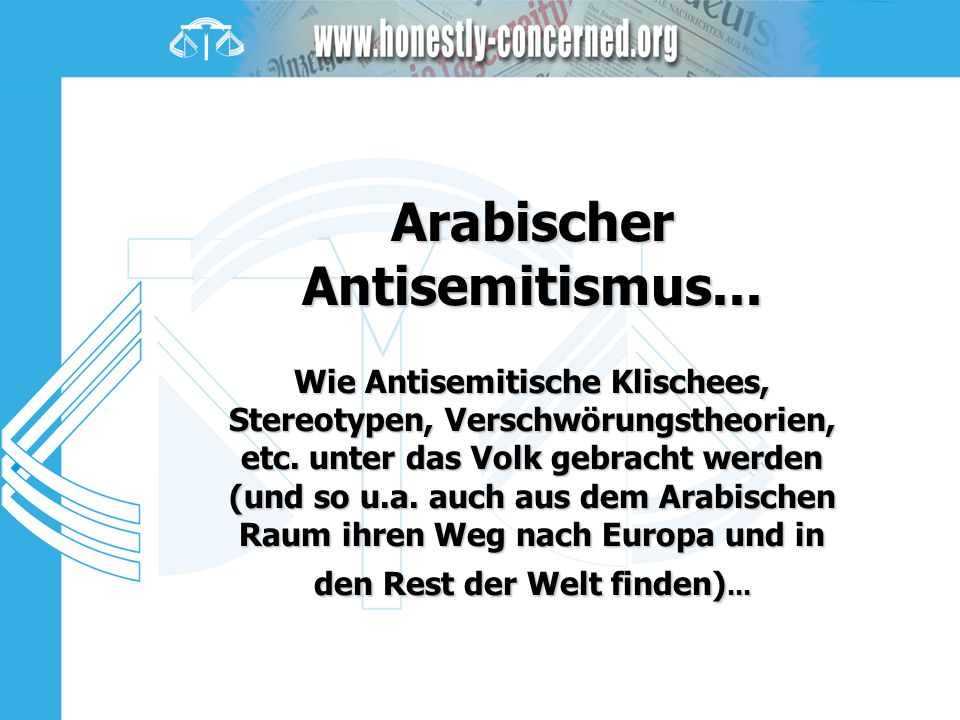 Arabischer Antisemitismus