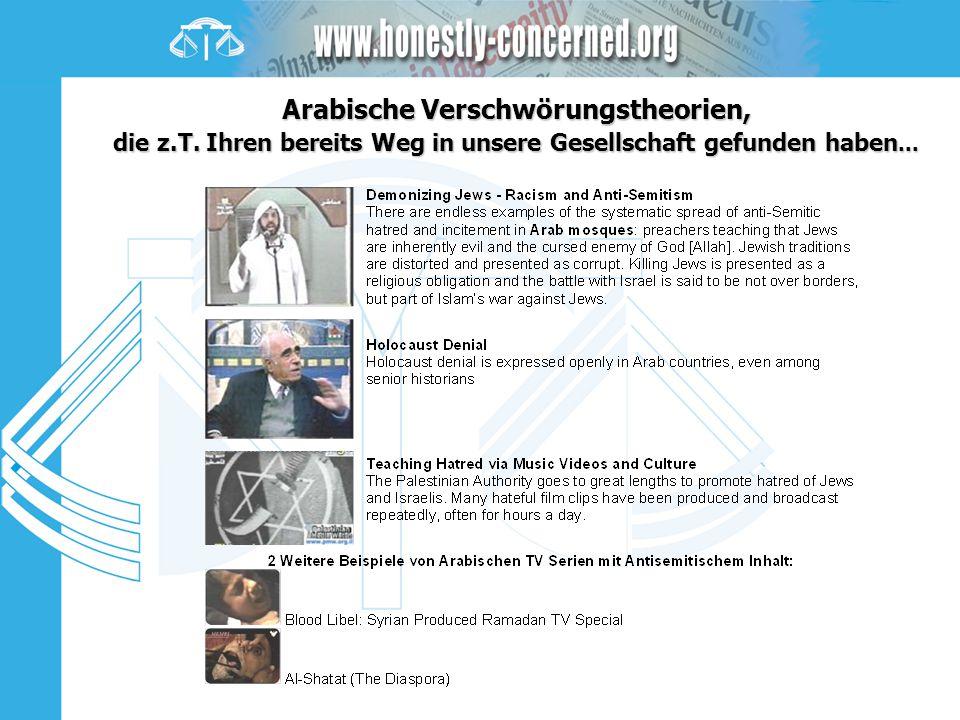 Arabische Verschwörungstheorien, die z. T