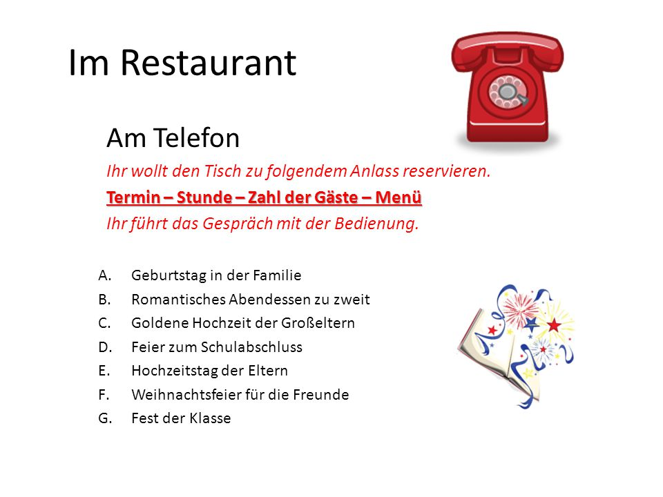 Im Restaurant Am Telefon