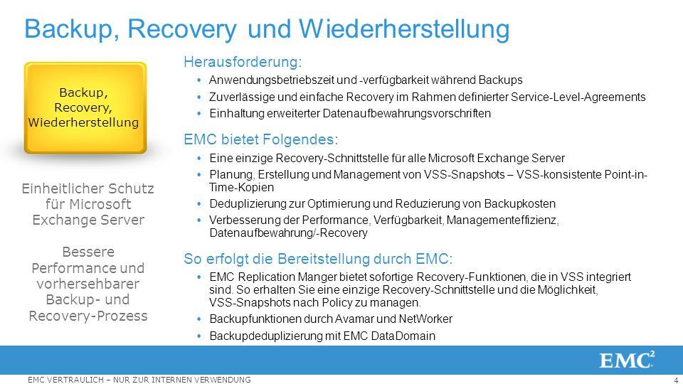 Backup, Recovery und Wiederherstellung