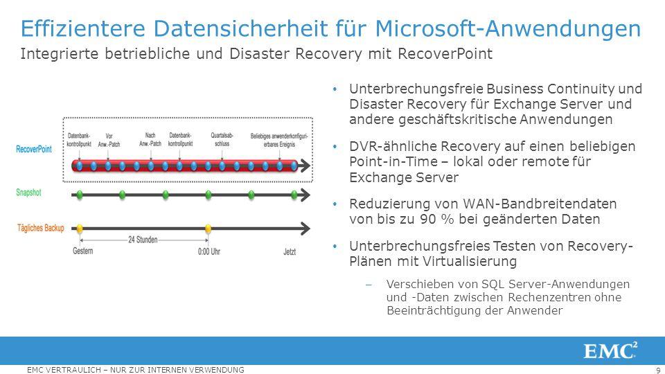Effizientere Datensicherheit für Microsoft-Anwendungen