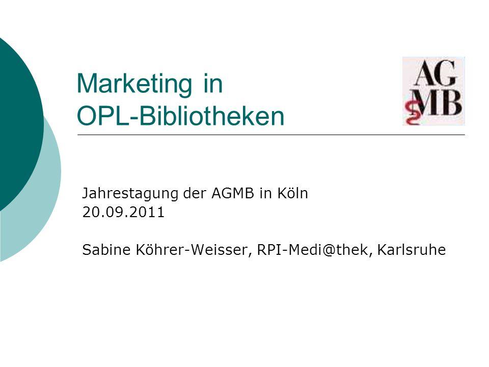 Marketing in OPL-Bibliotheken