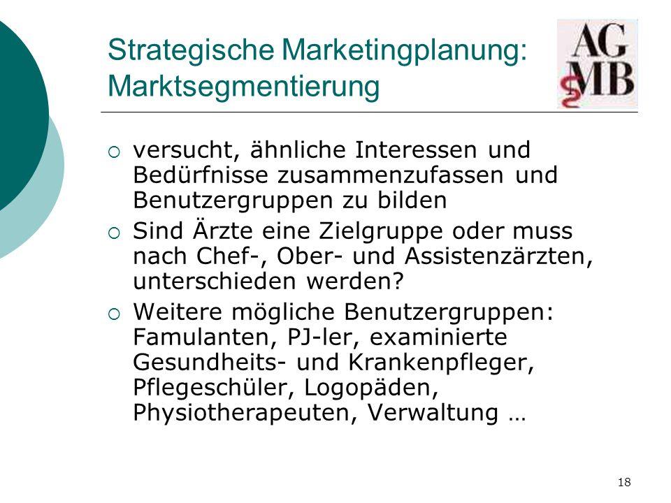 Strategische Marketingplanung: Marktsegmentierung