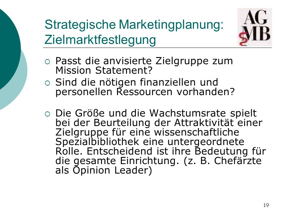 Strategische Marketingplanung: Zielmarktfestlegung