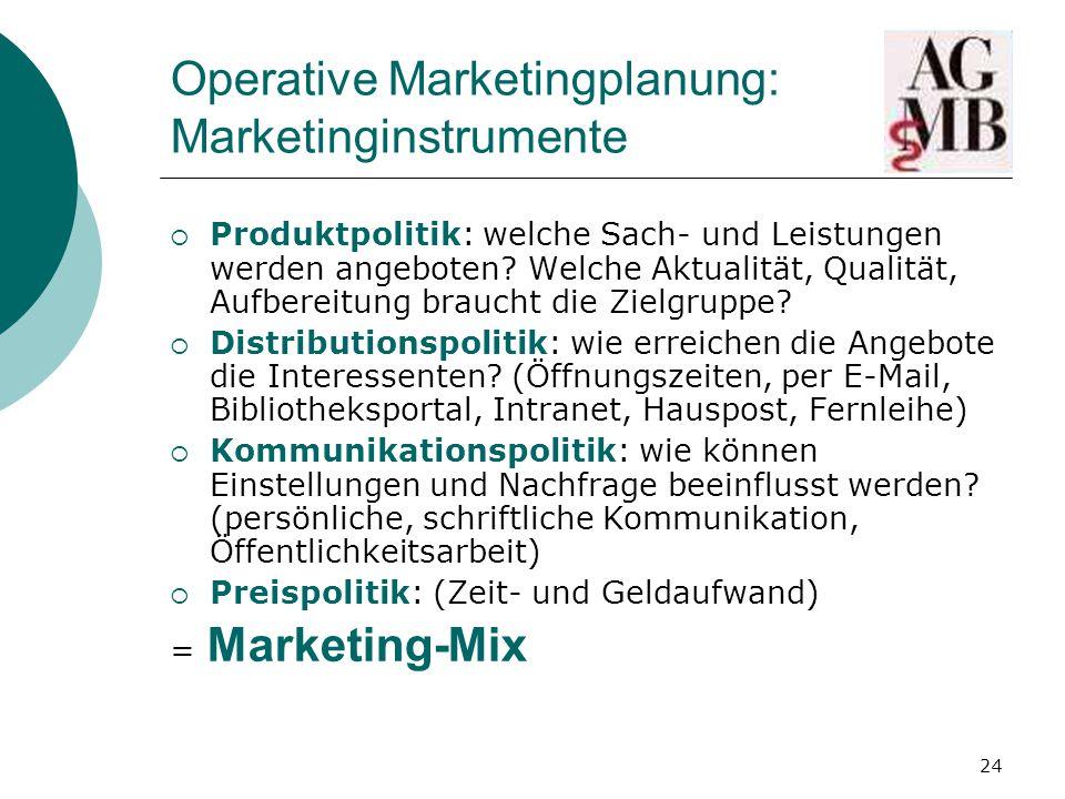 Operative Marketingplanung: Marketinginstrumente