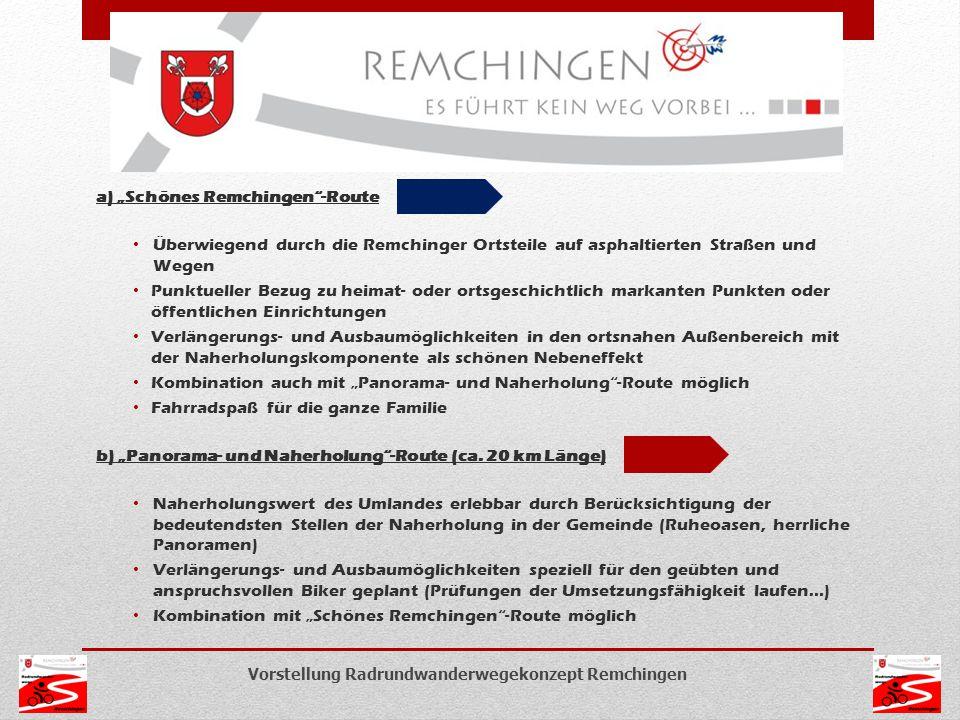 """a) """"Schönes Remchingen -Route"""