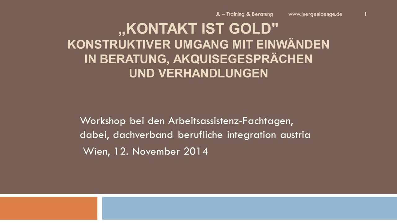 JL – Training & Beratung www.juergenlaenge.de