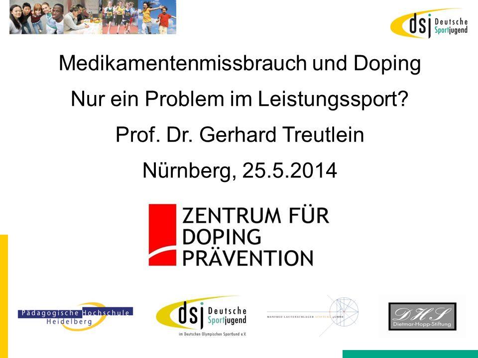 Medikamentenmissbrauch und Doping Nur ein Problem im Leistungssport