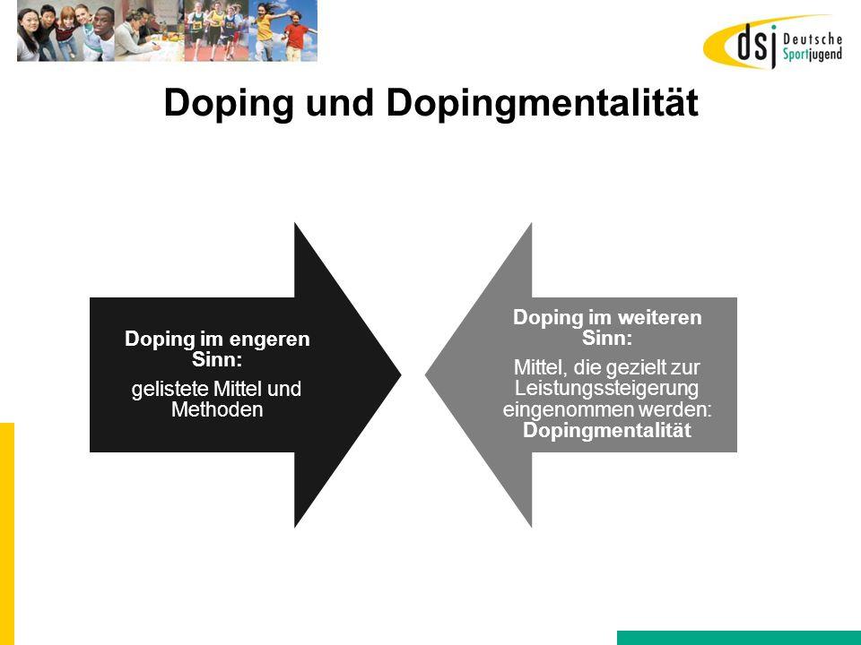 Doping und Dopingmentalität