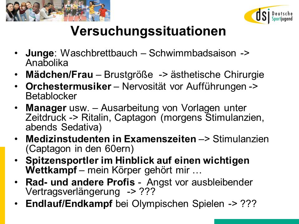 Versuchungssituationen