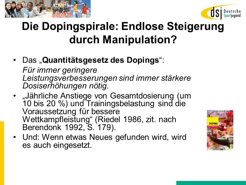 Die Dopingspirale: Endlose Steigerung durch Manipulation
