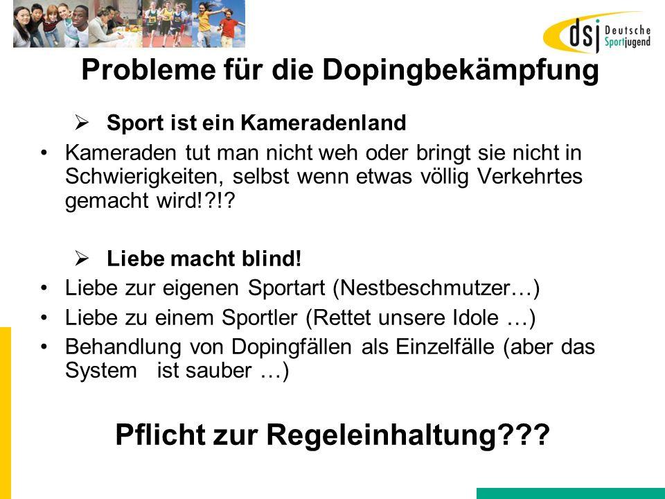 Probleme für die Dopingbekämpfung