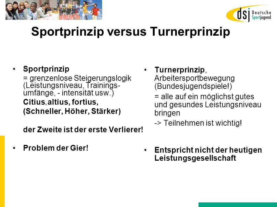 Sportprinzip versus Turnerprinzip