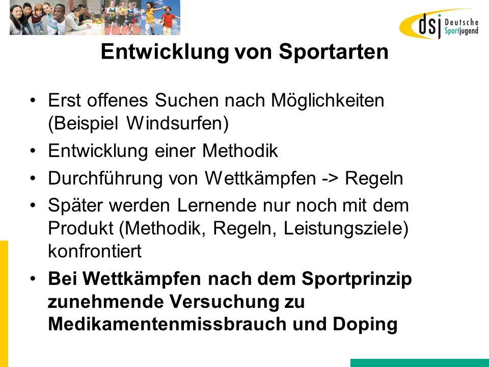 Entwicklung von Sportarten