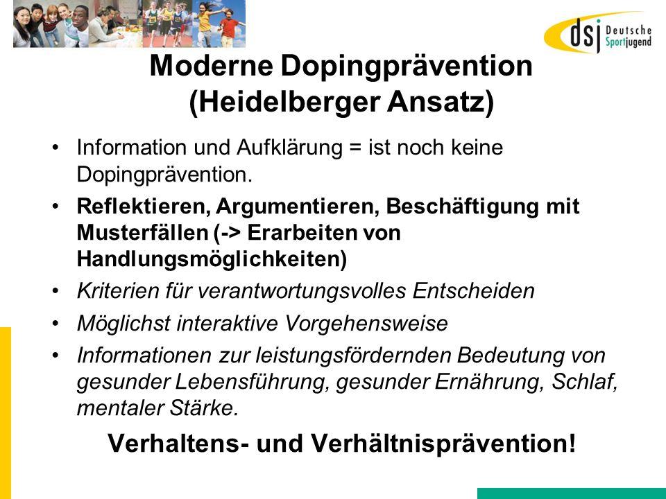 Moderne Dopingprävention (Heidelberger Ansatz)