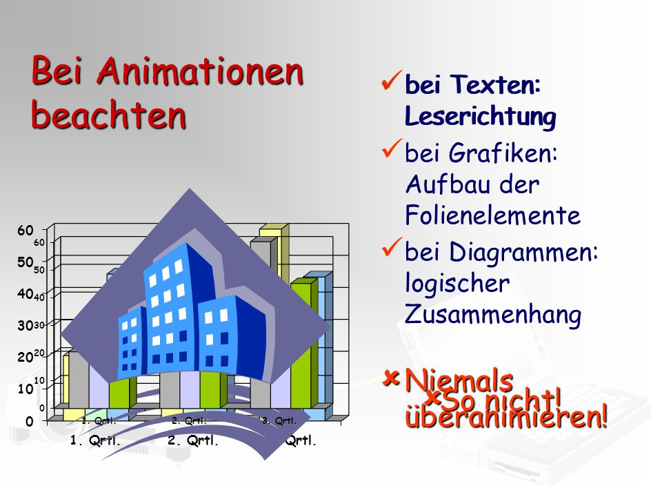 Bei Animationen beachten