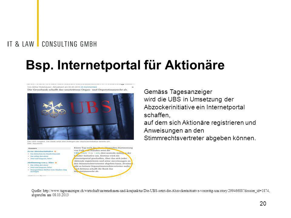 Bsp. Internetportal für Aktionäre