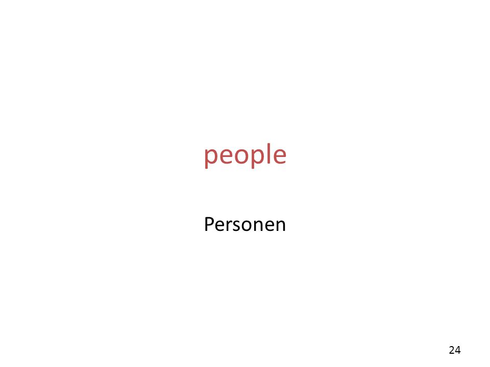 people Personen