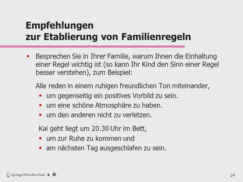 Empfehlungen zur Etablierung von Familienregeln