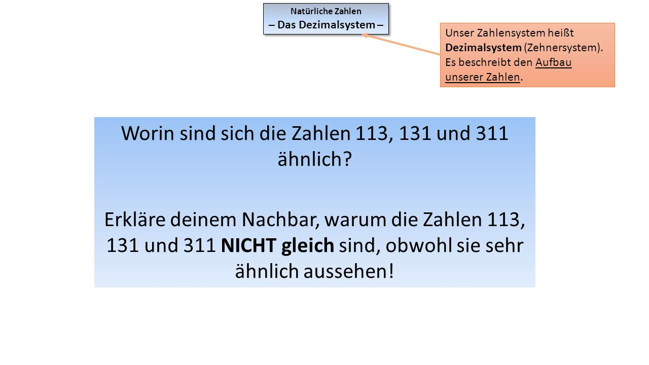 Worin sind sich die Zahlen 113, 131 und 311 ähnlich