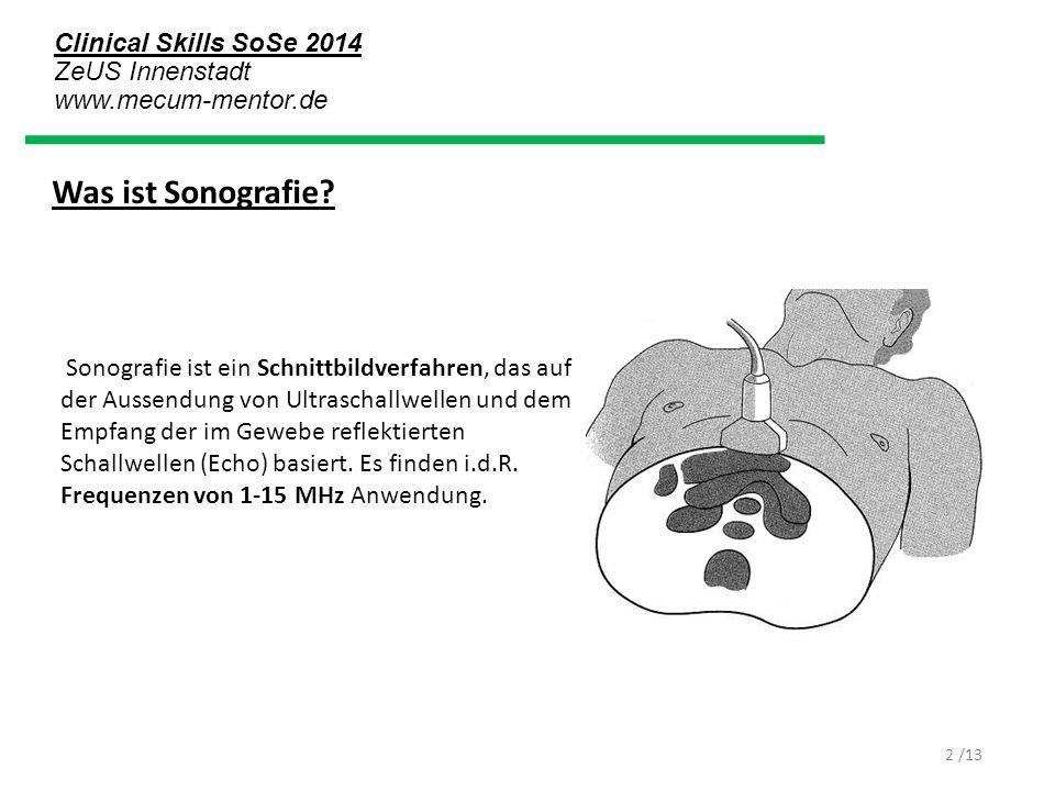Was ist Sonografie