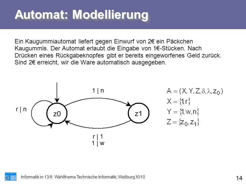 Automat: Modellierung