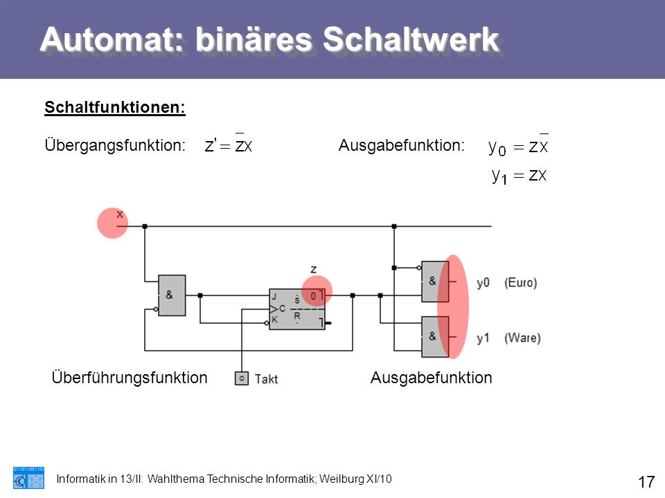 Automat: binäres Schaltwerk