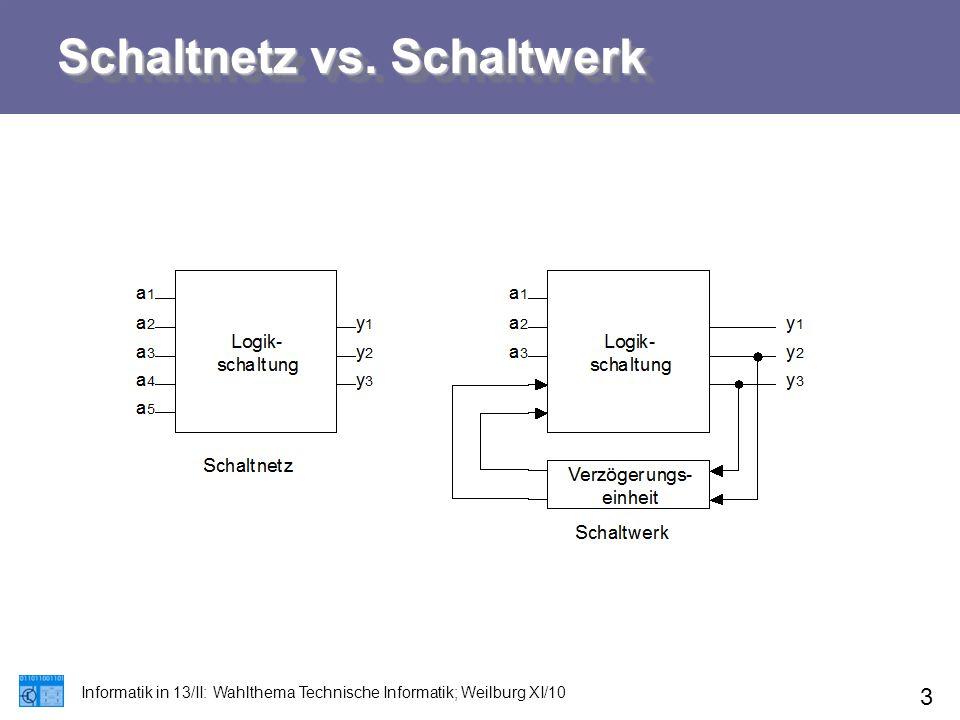 Schaltnetz vs. Schaltwerk