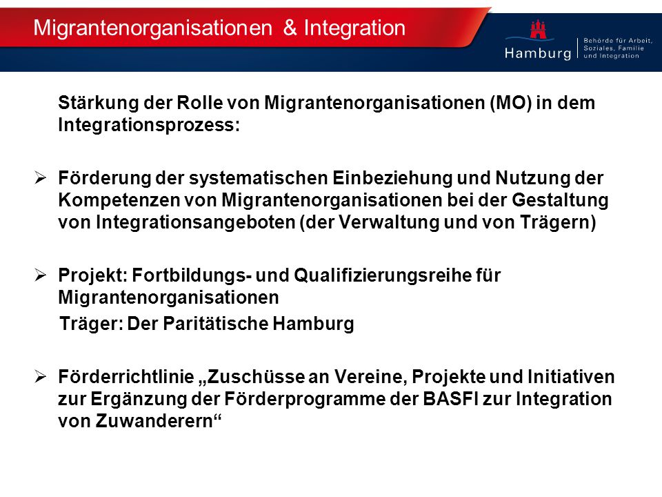 Migrantenorganisationen & Integration