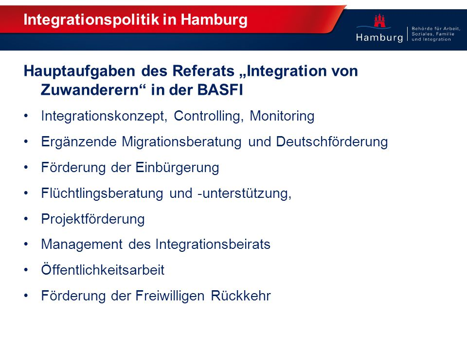 Integrationspolitik in Hamburg