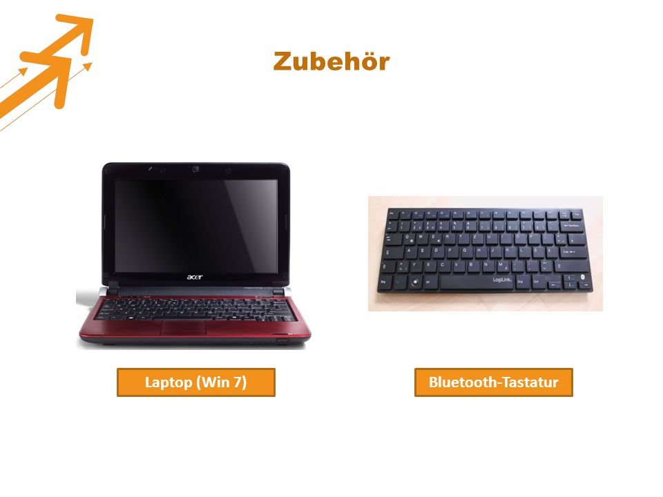 Zubehör Laptop (Win 7) Bluetooth-Tastatur