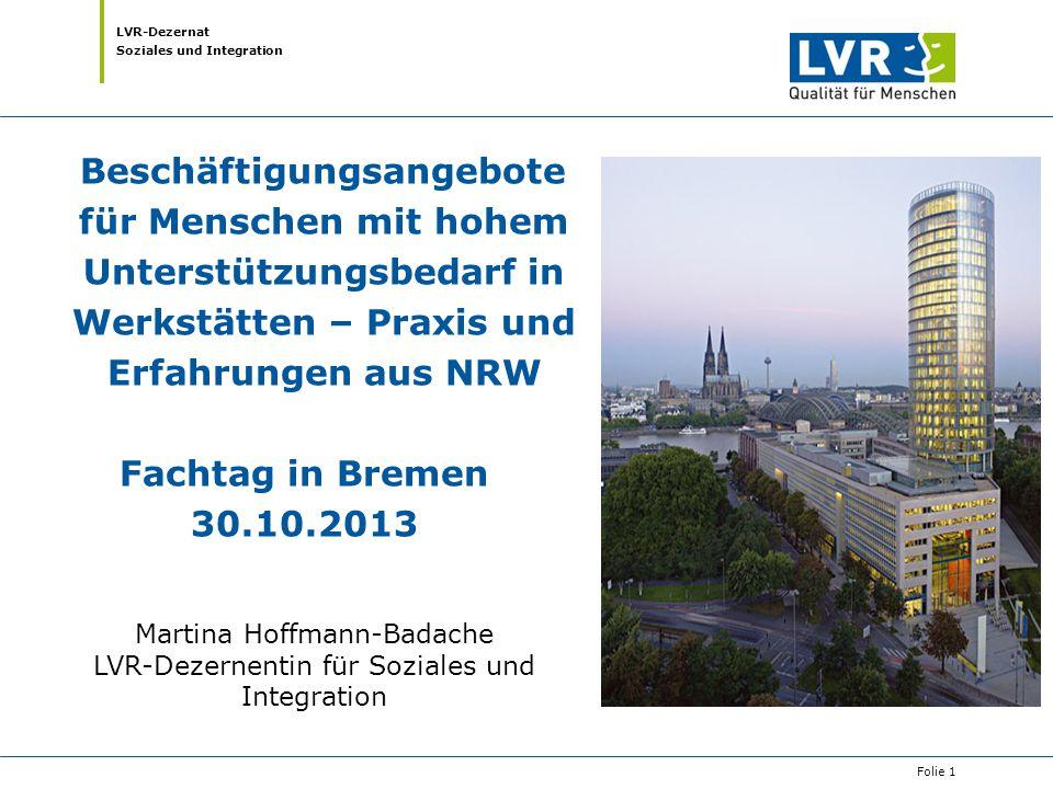 Beschäftigungsangebote für Menschen mit hohem Unterstützungsbedarf in Werkstätten – Praxis und Erfahrungen aus NRW