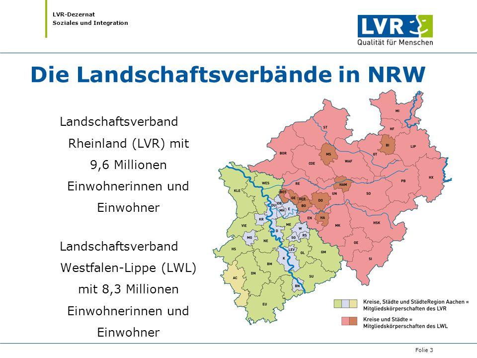 Die Landschaftsverbände in NRW