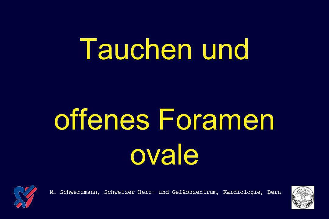Tauchen und offenes Foramen ovale