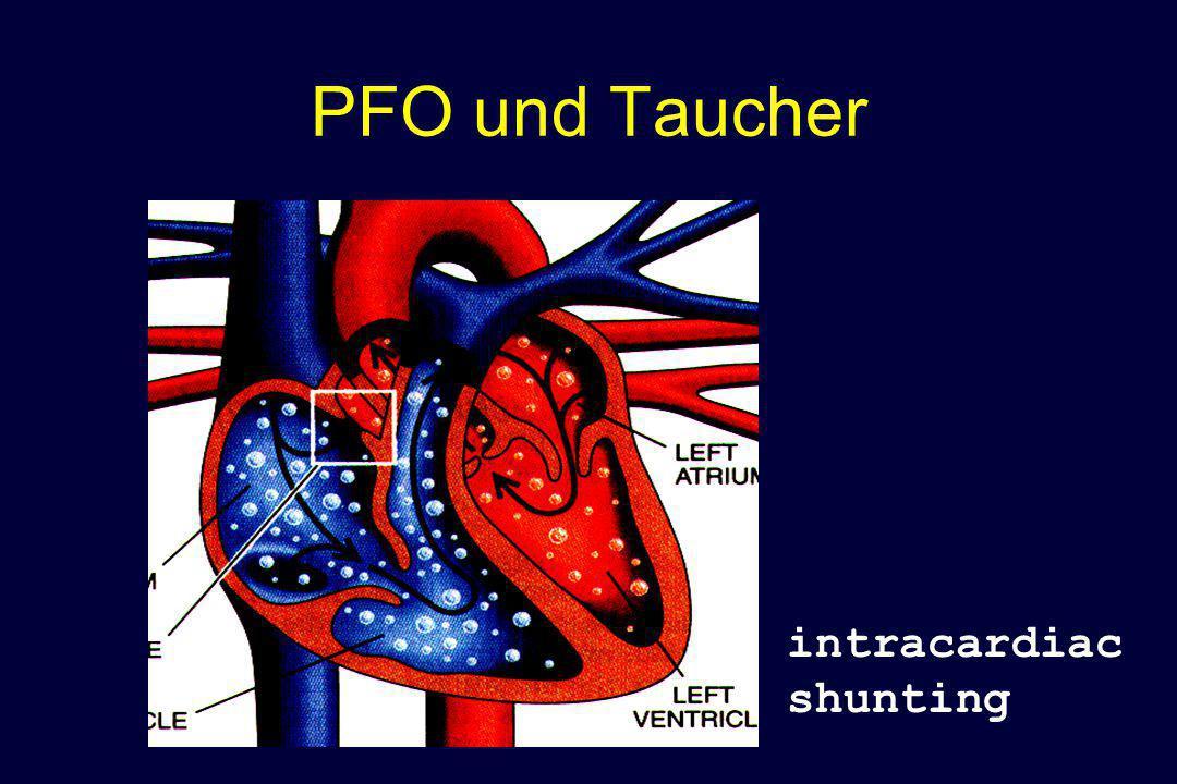PFO und Taucher P  intracardiac shunting