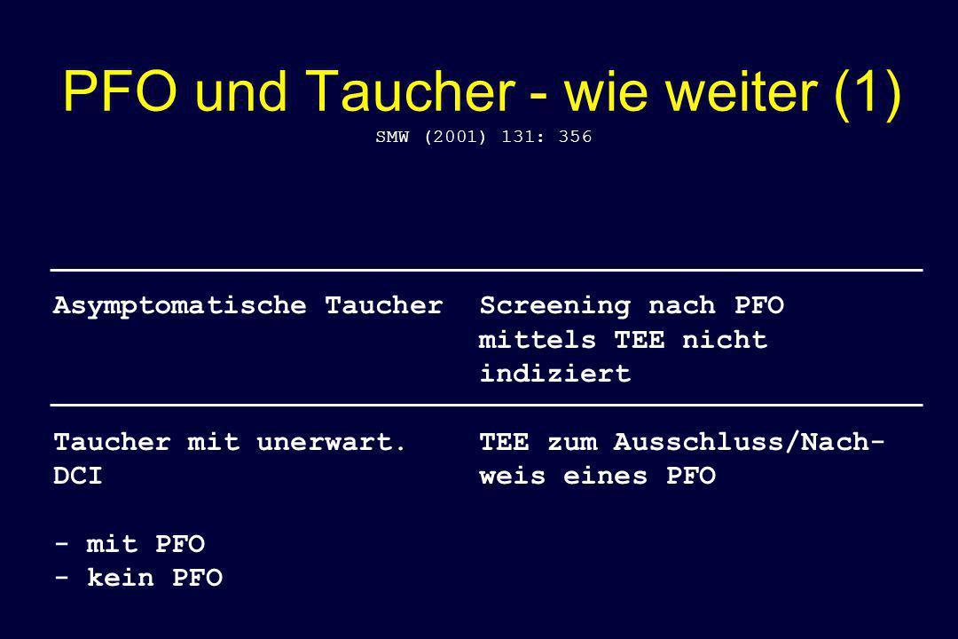 PFO und Taucher - wie weiter (1)