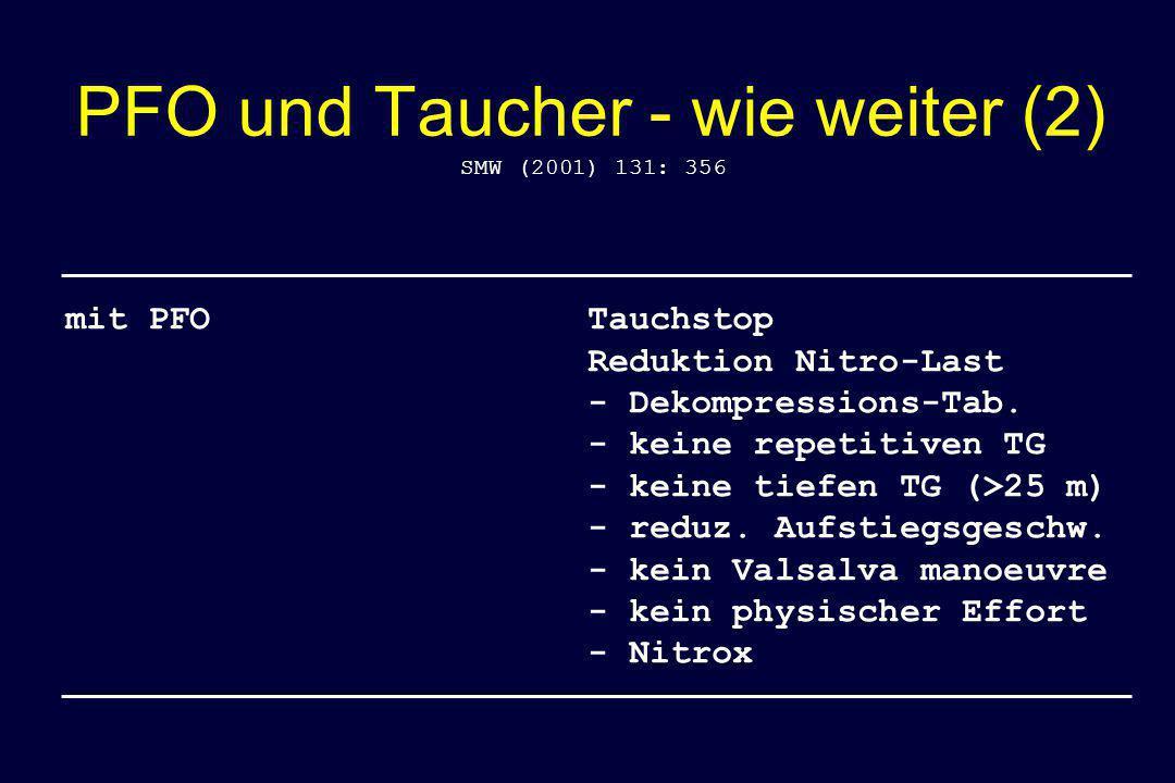 PFO und Taucher - wie weiter (2)