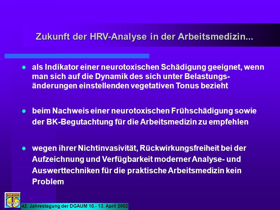 Zukunft der HRV-Analyse in der Arbeitsmedizin...