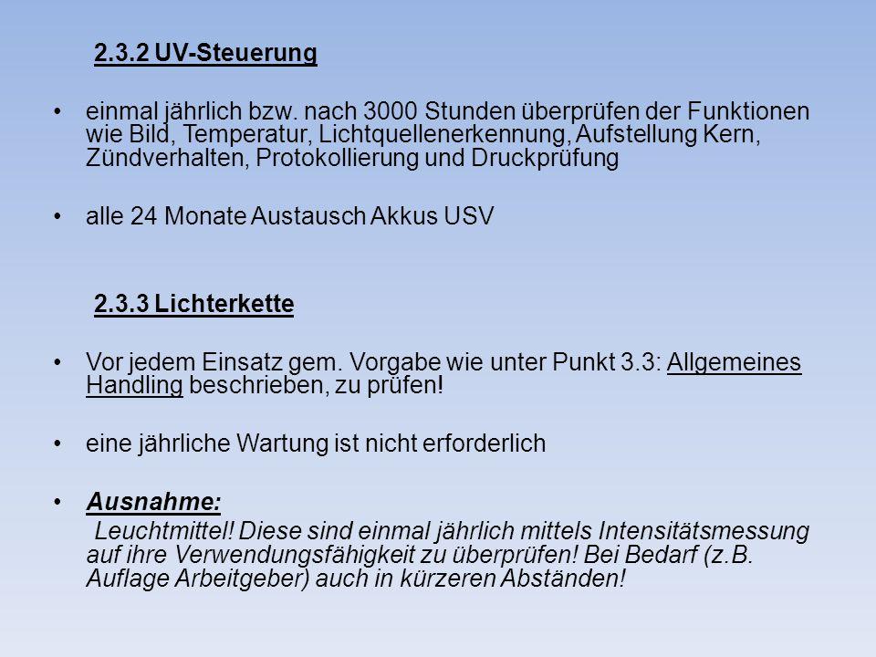 2.3.2 UV-Steuerung