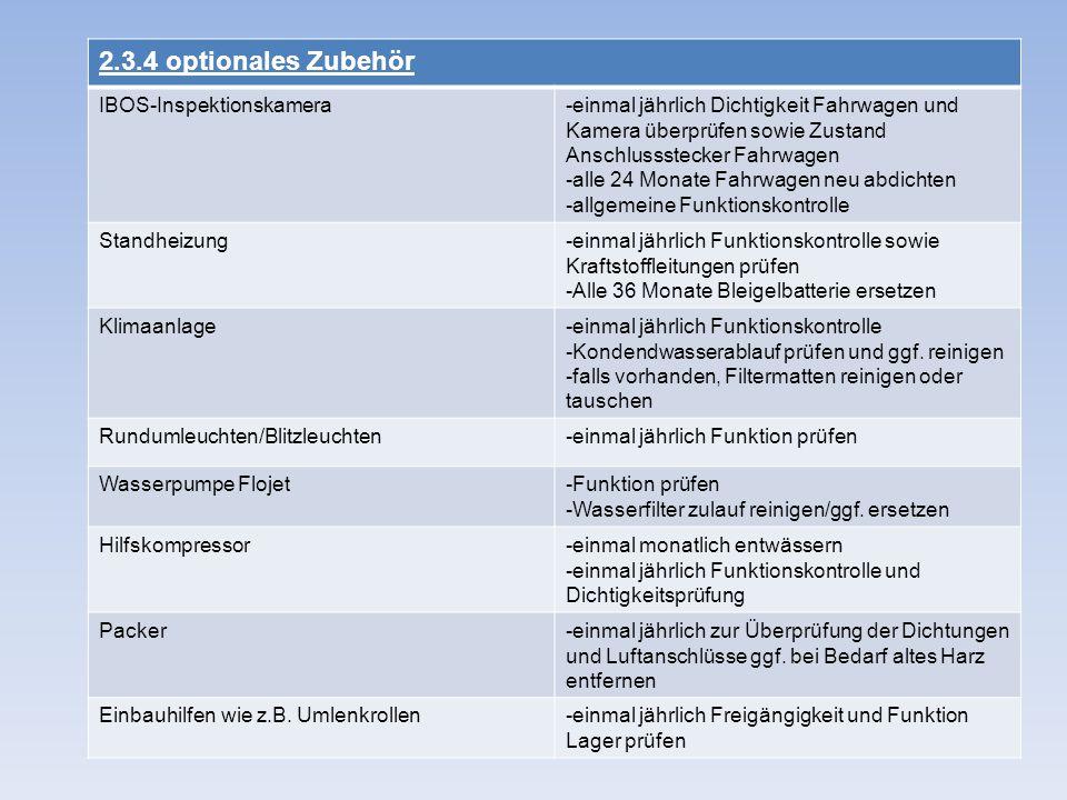 2.3.4 optionales Zubehör IBOS-Inspektionskamera